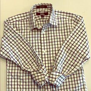 Boys checkered dress shirt
